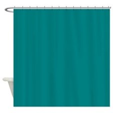 Solid Teal Shower Curtain For