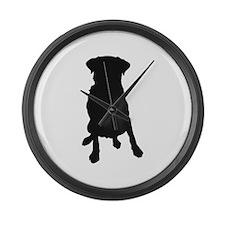 Dog Bone and Paw Large Wall Clock
