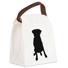 Dog Bone and Paw Canvas Lunch Bag