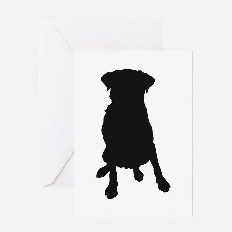 Dog Bone and Paw Greeting Card