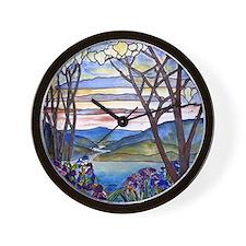 Tiffany Frank Memorial Window Wall Clock