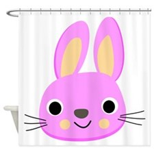 Pink Bunny Shower Curtain