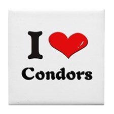I love condors  Tile Coaster