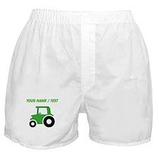 Custom Green Tractor Boxer Shorts