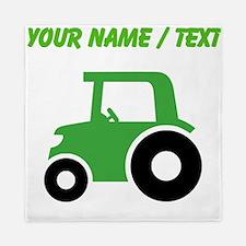 Custom Green Tractor Queen Duvet