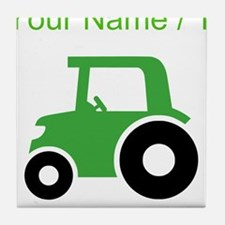 Custom Green Tractor Tile Coaster