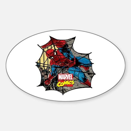 Spider Web 2 Sticker (Oval)