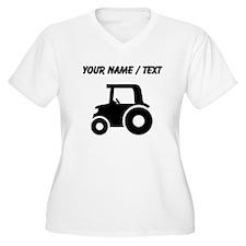 Custom Tractor Plus Size T-Shirt