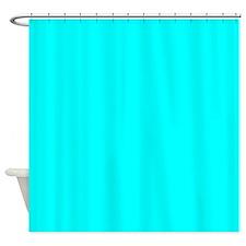 Solid Aqua Shower Curtain