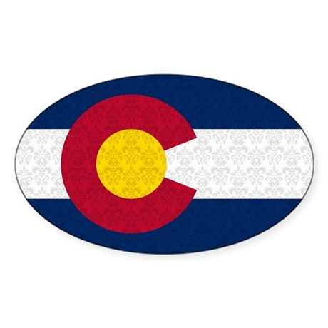 Colorado Flag Damask Pattern Sticker