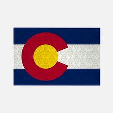 Colorado Flag Damask Pattern Magnets