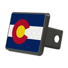 Colorado Flag Damask Pattern Hitch Cover