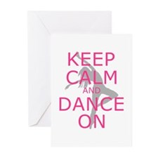 Modern Keep Calm and Dance On Greeting Cards