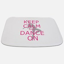 Modern Keep Calm and Dance On Bathmat