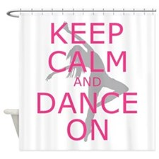 Modern Keep Calm And Dance On Shower Curtain