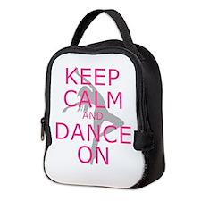 Modern Keep Calm and Dance On Neoprene Lunch Bag