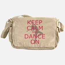 Modern Keep Calm and Dance On Messenger Bag