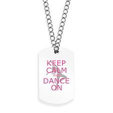 Modern Keep Calm and Dance On Dog Tags