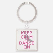 Modern Keep Calm And Dance On Keychains