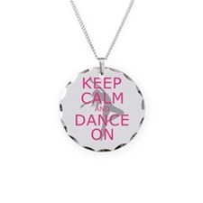 Modern Keep Calm and Dance On Necklace