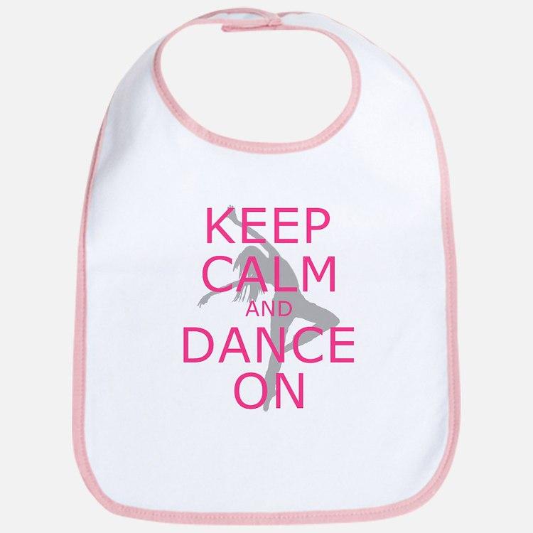 Modern Keep Calm and Dance On Bib