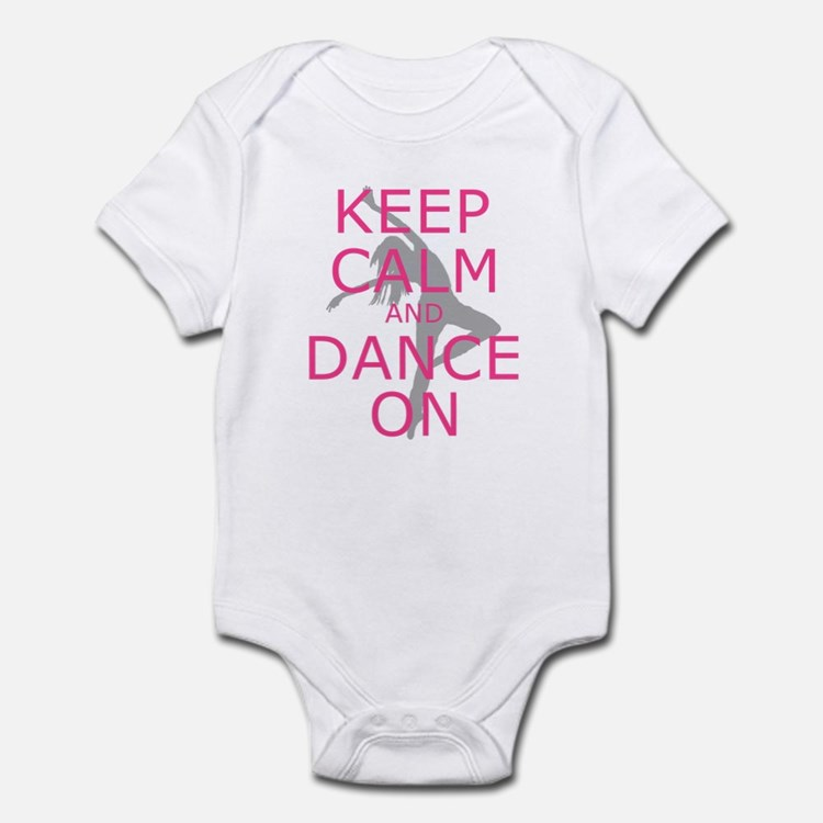 Modern Keep Calm and Dance On Body Suit