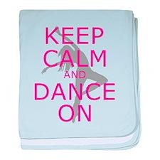 Modern Keep Calm and Dance On baby blanket