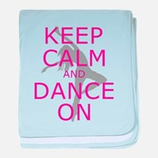 Modern Keep Calm and Dance On baby blanket