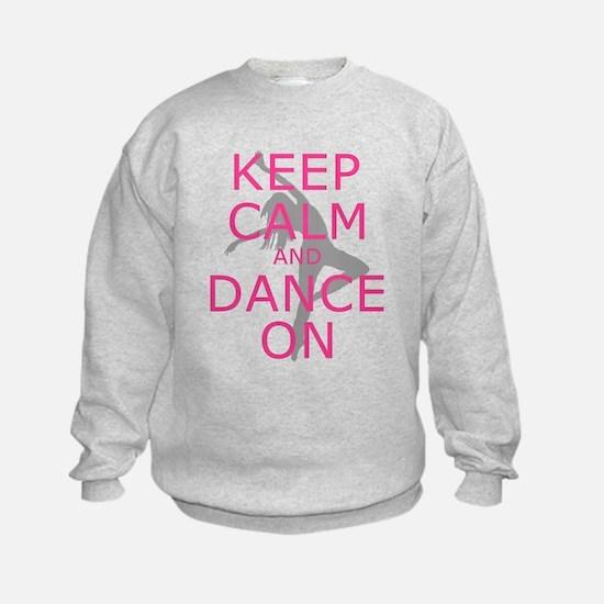 Modern Keep Calm and Dance On Sweatshirt