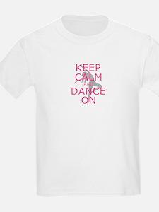 Modern Keep Calm and Dance On T-Shirt