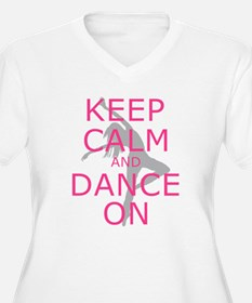 Modern Keep Calm and Dance On Plus Size T-Shirt