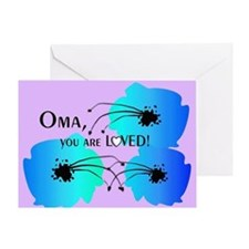 Oma Grandmother Greeting Card