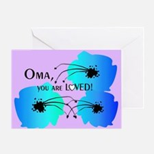 Oma Grandmother Greeting Card