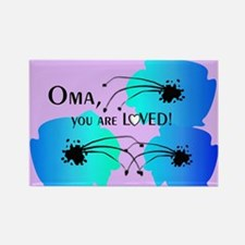 Oma Grandmother Rectangle Magnet