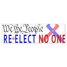 Re-Elect No One Car Sticker