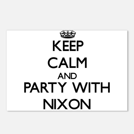 Keep calm and Party with Nixon Postcards (Package