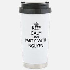 Keep calm and Party with Nguyen Travel Mug