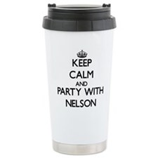 Keep calm and Party with Nelson Travel Mug
