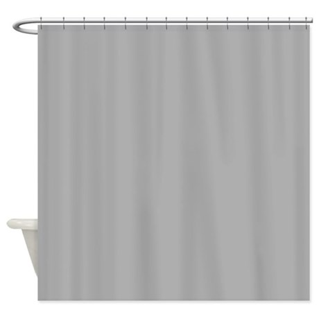 Solid Light Gray Shower Curtain By Showercurtainsworld