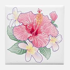 Hibiscus And Plumeria Tile Coaster