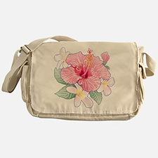 Hibiscus And Plumeria Messenger Bag