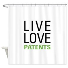 Live Love Patents Shower Curtain