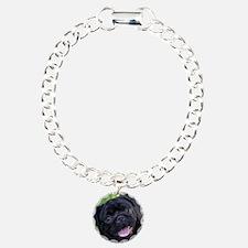 Black Pug Bracelet