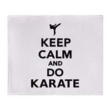 Keep calm and do Karate Throw Blanket