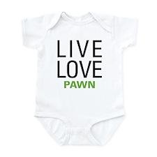 Live Love Pawn Infant Bodysuit