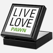 Live Love Pawn Keepsake Box