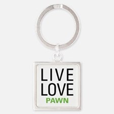 Live Love Pawn Square Keychain