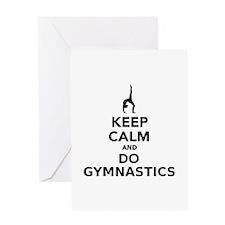 Keep calm and do Gymnastics Greeting Card