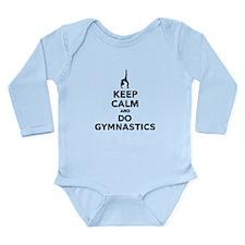 Keep calm and do Gymna Long Sleeve Infant Bodysuit