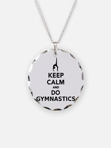 Keep calm and do Gymnastics Necklace